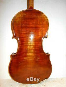 Antique Vintage Old Antonio Vettrini 1 Pc. Arrière Taille Violon Pas De Réserve