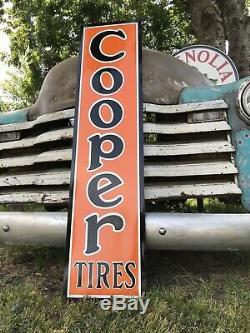 Antique Vintage Old Style Cooper Tires Station Service Sign