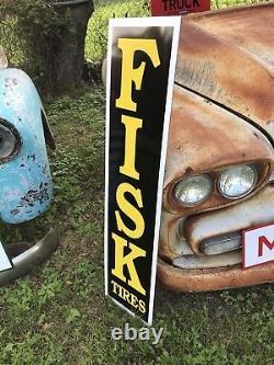 Antique Vintage Old Style Fisk Pneus Connexion