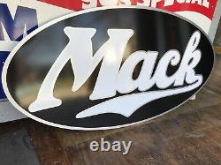 Antique Vintage Old Style Mack Trucks Signe. Livraison Gratuite