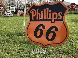 Antique Vintage Old Style Phillips 66 Signe Station-service