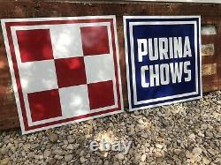 Antique Vintage Old Style Purina Chows Signes