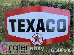 Antique Vintage Old Texaco Signe Huile Moteur