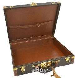 Auth Louis Vuitton Cotteville 45 Antique Vintage Vieux Tronc Hard Case Ak26022k