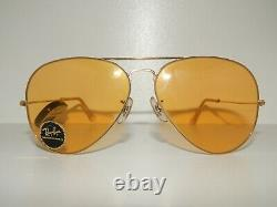 B&l Ray-ban Amber Maticvintage Aviator Lunettes De Soleilnever Usedold Stocktrendy