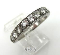 Bague Ancienne Avec Diamants Et Platine Taille 1,20 Ct, Taille 6