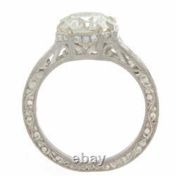 Bague De Fiançailles 2.20ct Old European Cut Certified Diamond Antique Style
