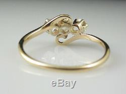 Bague Vintage Diamant Art Déco Trois Pierre Antique Domaine Cut Européenne. 77tw