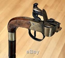 Bâton De Canne Gadget Vintage Antique 19c Bamboo Shaft Old 36l Excellent