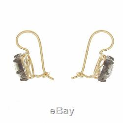 Boucles D'oreilles Avec Diamants De Taille Ancienne, Taille Européenne, 4.00ct Ttw