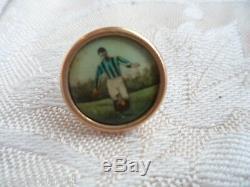 Boutons D'or De Football Antique Vieux Bijoux Boîte Cas Bijoux Vintage Robe Pour Hommes