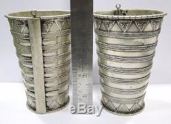 Bracelet Antique Vintage Ethnique Tribal Vieil Argent Bracelet Jonc Rajasthan Ind