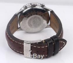 Breitling Old Navitimer Chronographe Noire 42mm Automatique 81610 Montre En Acier Inoxydable