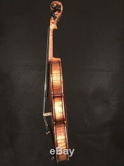 C. 1890-1910 Stradivarius 4/4 Pleine Violon Vintage Antique Fiddle