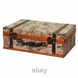 Carte Decorative Value Trunk Old World Vintage Antique Retro Bagage Maison Brown