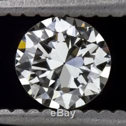 Certifié D Vs1 Old Cut Diamant 1/2 Carat Vintage Antique De Transition Européenne