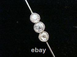 Collier Edwardian Platinum Old Cut Diamond 1,25ct Collier Lavaliere