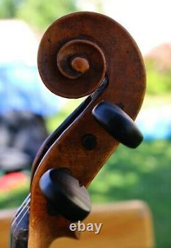Écoutez La Vidéo! 19ème Siècle Vieux Full Sound Violon Bohème Emanuel Tuma