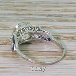 Edwardien 3.22ct Old Europeen Cut Diamond Engagement Ring Platinum C 1910