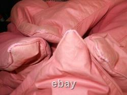 Eiderdown Feather Antique Vintage Rose Rose Single Bed Cotton Sateen Old Downton