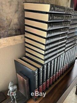 Encyclopédie Britannica Vintage 1990 15ème Édition 35 Black Books Old Antique Vtg