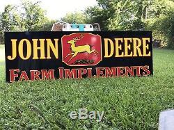 Enseigne De Ferme Ancienne Et Vintage John Deere Vintage Style Antique - 6 Pieds
