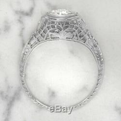 Fiançailles Vintage Bague En Diamant Ancien Art Européen Antique Cut Deco 1/3 Carat