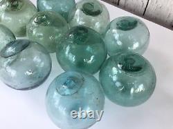 Flottes De Pêche En Verre Japonais 10 X 3, Pas De Filet Authentique Vieux Japon Balles