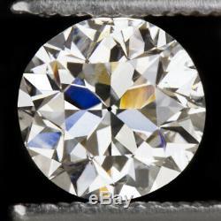 Gia Certified H Si2 5mm Ancienne Coupe Européenne Diamant Vintage Antique 1/2 Carat. 5ct