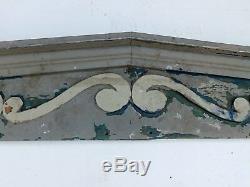 Grande Fenêtre Antique Fronton Vieux-tête Vintage Shabby Chic Victorien 362-16