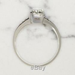 H Vs. 87 Bague De Fiançailles En Diamant De Taille Ancienne Diamants Taille Brillant Et Platine