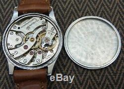 Iwc Schaffhausen Old Inter Cal. 83 1940 Vintage St. Steel Mens Watch Remontage Manuel