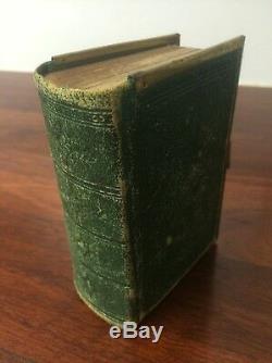 Le Livre De La Prière Commune 1872 Antique Old Vintage 1800 (bible) En Laiton En Cuir