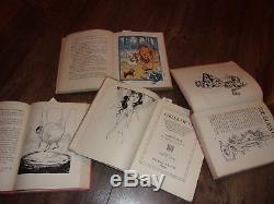 Lot Old 9 Vintage Set D'assistant De Collection De Livres D'os De Frank Collection Baum Frank