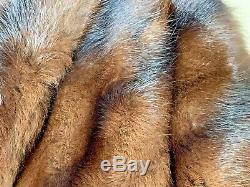 Magnifique Vintage Célèbre Barr Fur Salon Vison Châle Manteau Brown Antique Old Vtg