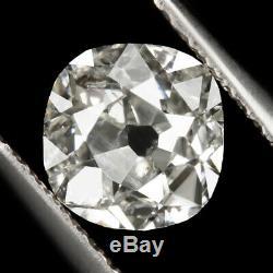 Mine Vieux Cut 6 MM 0.82ct Diamant Rose Antique Coussin Cut Vintage Naturel En Vrac