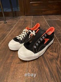 New Old School Vintage Black Wilson Hotshot Bata Hommes 7 1/2 Sneakers De Toile États-unis
