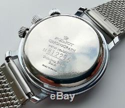 New Old Stock Poljot 3133 Chronograph Rare Cristal Minéral, Aiguilles Luminescentes