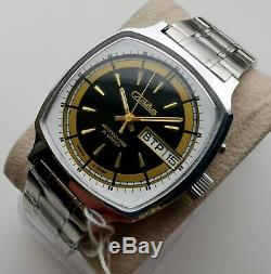New Old Stock Urss Made Slava 2427 Calendrier Double Watch! Rare Vintage Modèle