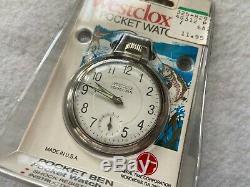 New Old Stock Westclox Pocket Ben Mechanical Wind Up Vintage Pocket Watch