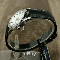Nouveau Ancien Stock $ 795 Montre Suisse Raymond Weil W1 Date Noire / Blanche 30mm 3030