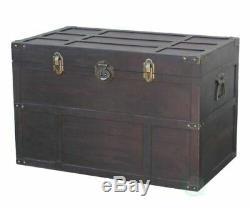Nouveau Vintiquewise Vieux Cèdre Style Grand Coffre, Qi003041l