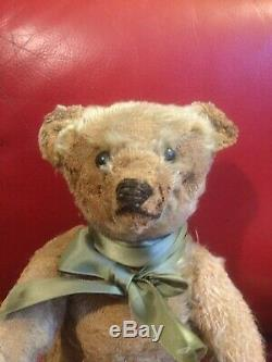 Old Antique Steiff Ours Avec Bouton Ff