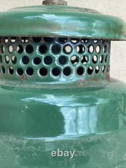 Old Australian Made Coleman 249 Scout Kerosene Lampe De Pression Avec Nuance Colex