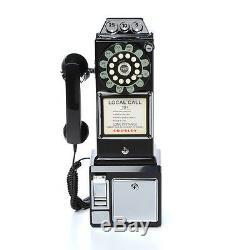 Old Phones Vintage Antique Telephones Téléphone Payant Nouveauté 1950 Rotary Noir Accueil