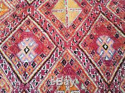 Old Vintage Marocaine Fait Main Boujad Boujaad Tapis Beni Ourain De Tapis De 6x9 Azilal