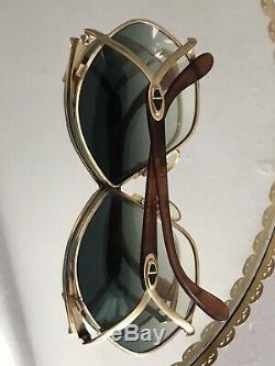 Old Vtg Christian Dior CD 2056 41c Or Papillon Surdimensionné Lunettes De Soleil Autriche