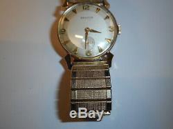 Or 14k Benrus Vintage Watch Works Mens Old School Wind Up Suisse 17 Jewel
