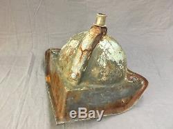 Petit Évier De Coin En Porcelaine Blanche En Fonte Antique Vtg Bath Salvage Old 488-17e