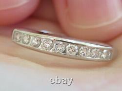 Platinum Antique Vintage Vs Diamond Eternity Wedding Ring Old Stamping Band Wow